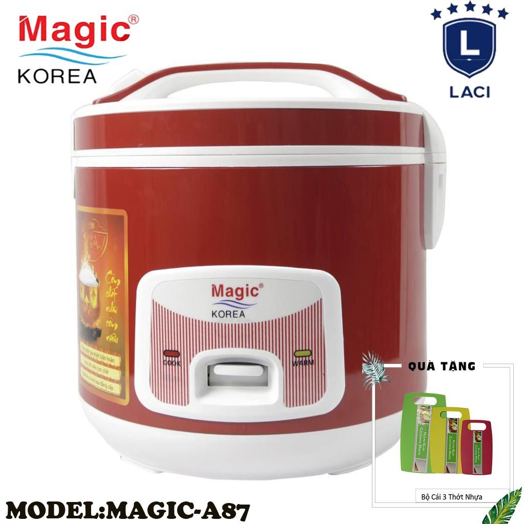 Nồi cơm điện lòng niêu Magic Korea A87 | Dung Tích 2L | Công Suất 700W | Tặng Bộ 3 Thớt Nhựa