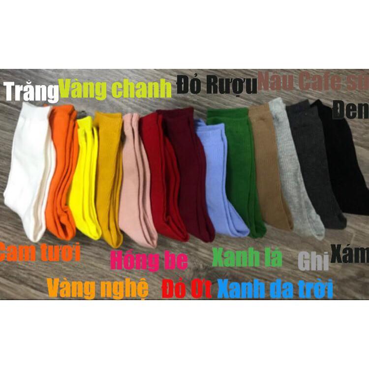 Tất Nhún Hàn Quốc 17 màu -Tất cổ dài cao cấp Vintage
