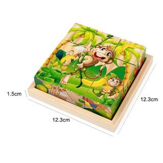 Đồ chơi gỗ – Đồ chơi tranh ghép gỗ 6 mặt – xếp hình 3D cho bé ( Tặng kèm khung đế bằng gỗ cho 3 đơn hàng đầu tiên)
