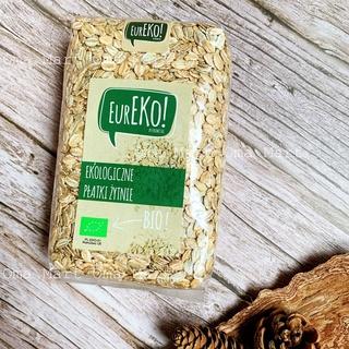 Hạt lúa mạch đen nguyên cám cán dẹt hữu cơ Eureko 300g