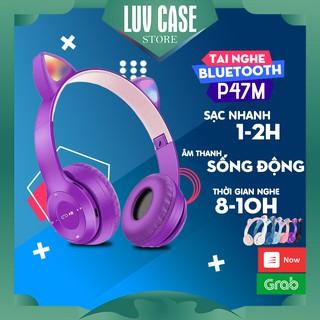 Tai Nghe Mèo Headphone Chụp Tai Bluetooth Không Dây 5.0 P47M Dễ Thương Trend Tiktok thumbnail