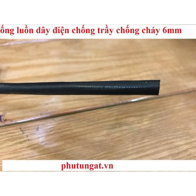 Ồng luồn dây điện chống trầy chống cháy sợi thủy tinh 6mm (10m)