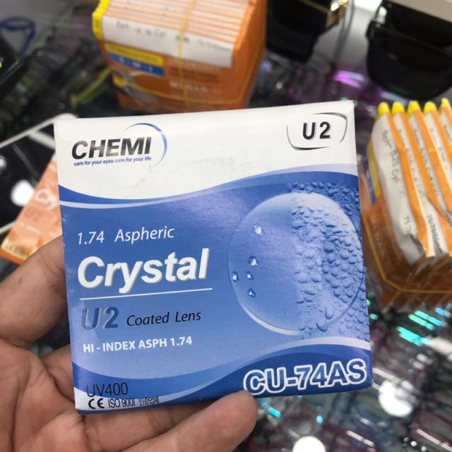 Tròng kính siêu mỏng Chemi U2 1.74 chính hãng hàn quốc
