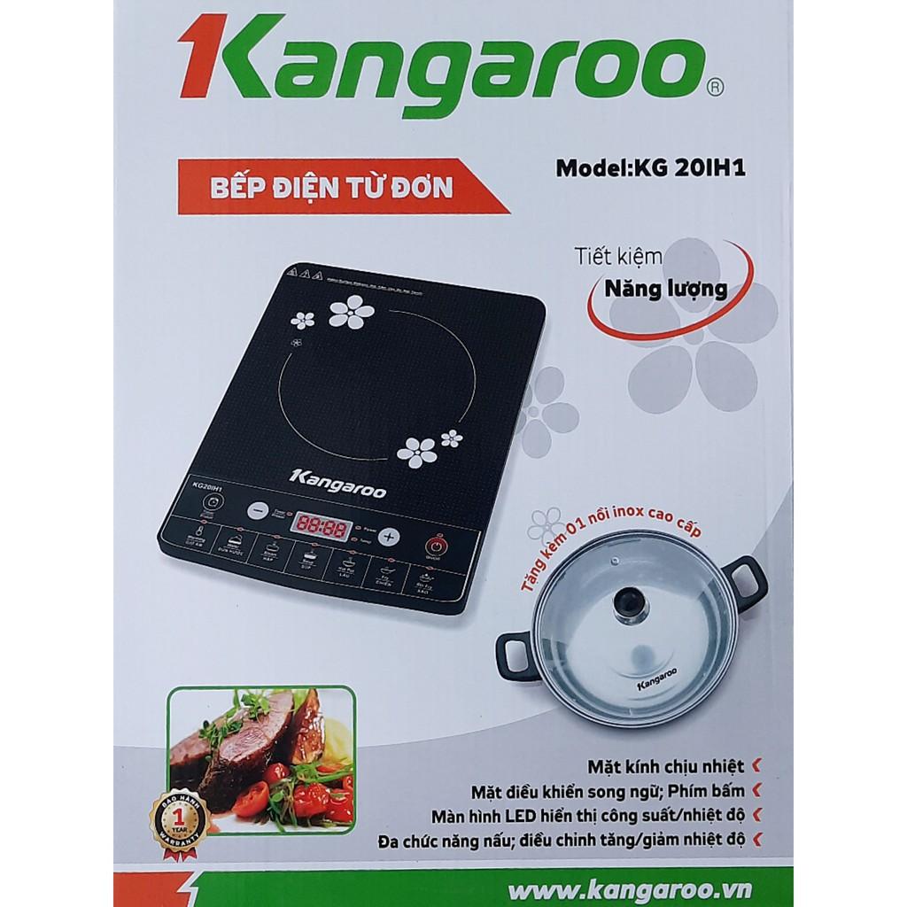 Bếp điện từ đơn Kangaroo KG20IH1 / KG20IH6 hoặc KG365i kèm nồi lẩu - Bảo  hành chính hãng 1 năm