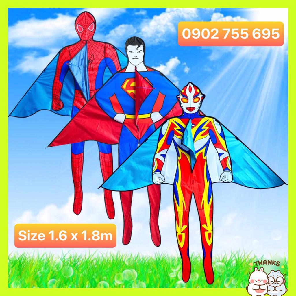 [MUA 1 ĐƯỢC 2] Diều NGƯỜI NHỆN spiderman 1m6 x 1m82 – TẶNG TAY CẦM THẢ DIỀU LỚN 150 mét DÂY + TÚI VẢI ĐỰNG DIỀU NHÀ MAY