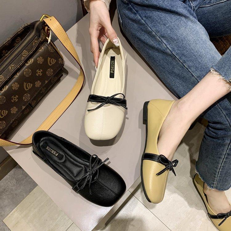 Giày búp bê đế bằng mềm mại cho nữ