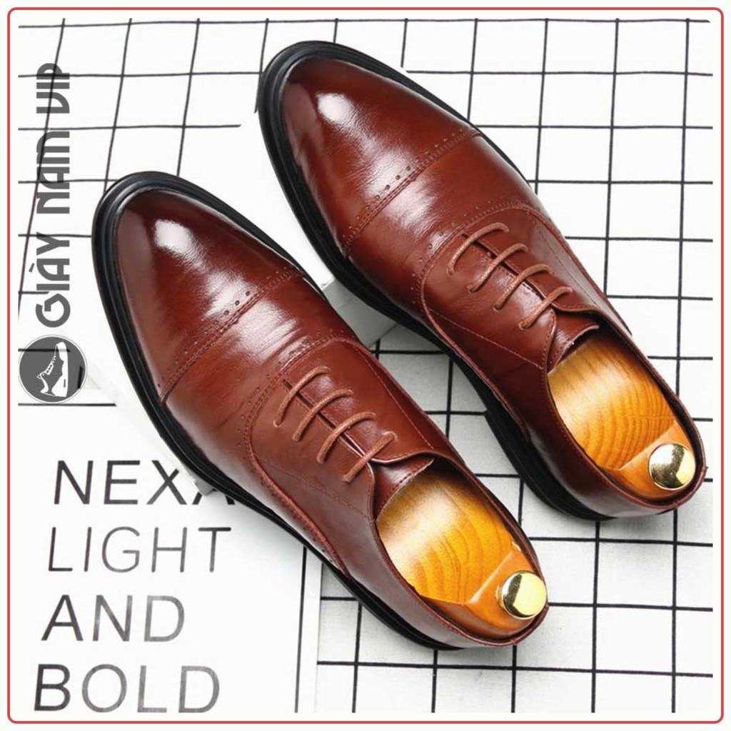 Giày Nam Đẹp Oxford - FREESHIP -  Giày Da Nam Da Bò Thời Thượng GD91