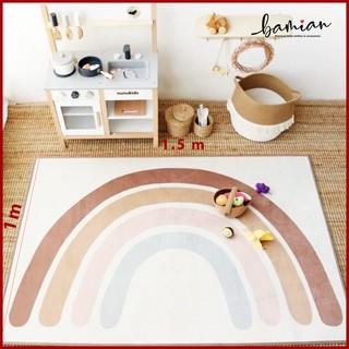 Thảm trải sàn cầu vồng trang trí phòng khách cho bé tập chơi bò chống trượt sạch đẹp an toàn cho bé thumbnail
