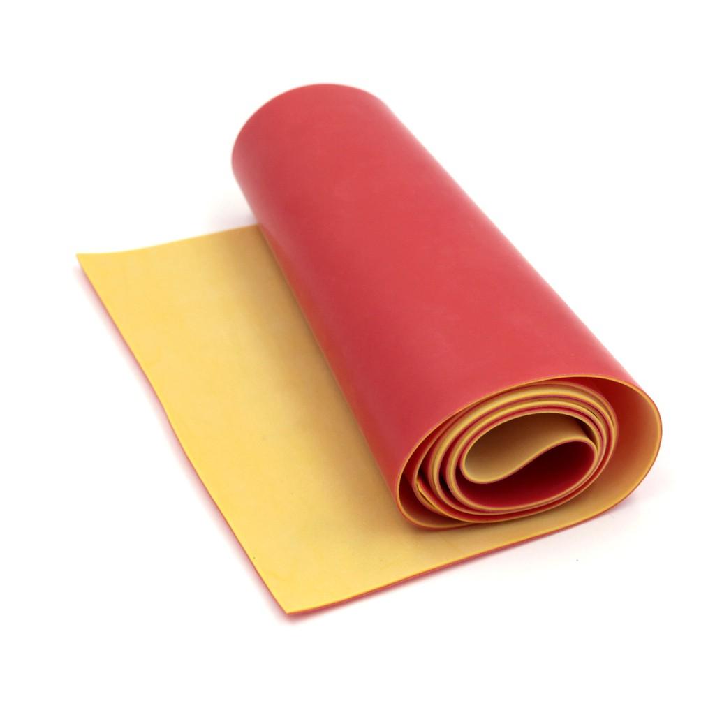 (Dankung – Size tự chọn) Cuộn 1m thun Dankung 2 lớp size tự chọn (Màu Đỏ Vàng)