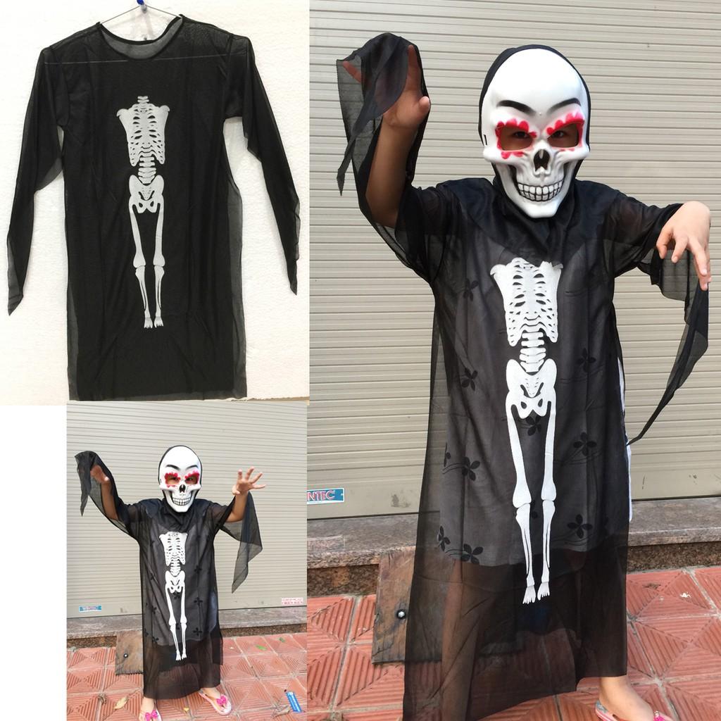 Áo bộ xương hóa trang Halloween dài 94cm cho bé từ 4-8 tuổi