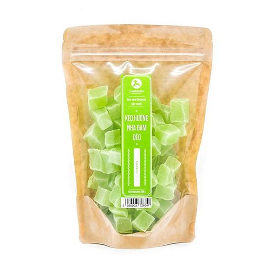 Kẹo hương nha đam dẻo LANGFARM - Đặc sản Đà Lạt 350g/bịch, mẫu kraft 1 mặt trong