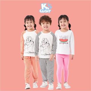Bộ Quần Áo Cotton Dài Tay Cho Bé Trai và Bé Gái (1-9 Tuổi) K's Closet E025TEF / E058TEF TM