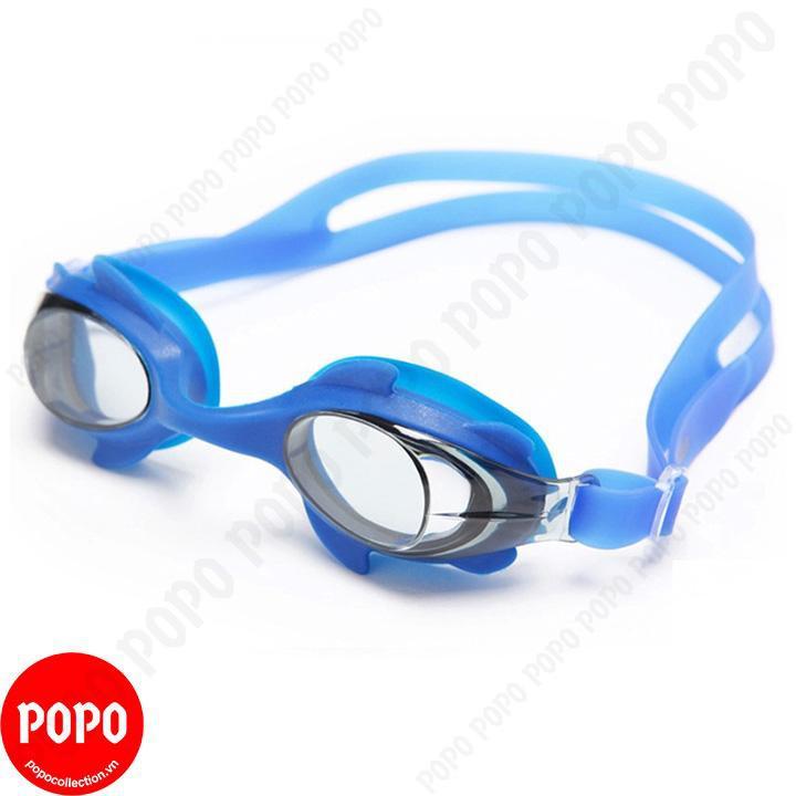 Kính bơi trẻ em POPO Collection 1580 chống tia UV, chống sương mờ Xanh da trời