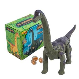 Đồ chơi khủng long cổ dài đẻ trứng chạy pin