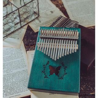♫ EQ Mahogany 17 keys kalimba Thumb Piano Quà tặng