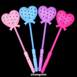 Luminous Magic Stick Light Up Heart Led Lighting Multi Color Party Princess Wand Scepter