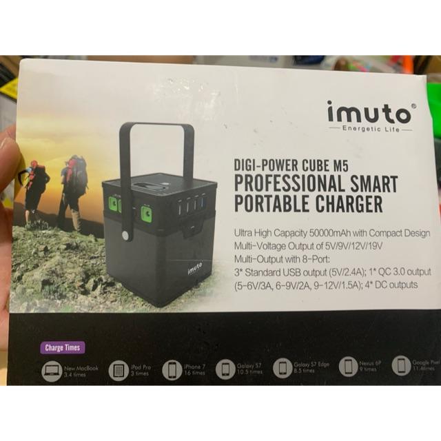 Sạc dự phòng nhật cho Laptop iMuto M5 50000mAh