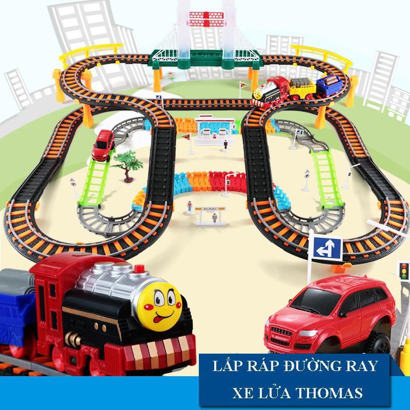 Bộ đồ chơi đường ray xe lửa Thomas hình xoắn vui nhộn