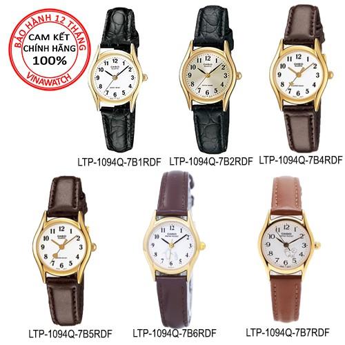 Đồng hồ Nữ Casio Chính hãng Anh Khuê dây da thời trang giá rẻ dành cho nữ tay nhỏ LTP-1094Q-7B