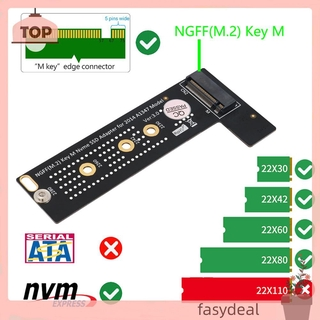 (☼fasydeal)M.2 NGFF NVME M-Key SSD Adapter for 2014 Macbook Mini A1347 Model Converter