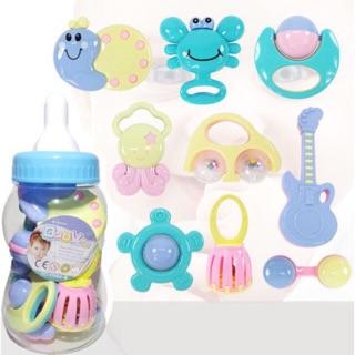 Bộ đồ chơi xúc xắc bình sữa nhiều món phát tiếng cho bé