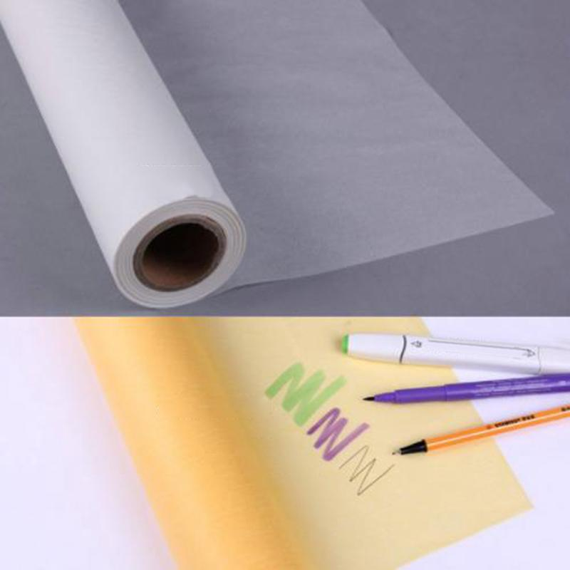50M Copy Drafting Acid Paper Super Transparent Sketch Tracing Paper Roll Artist