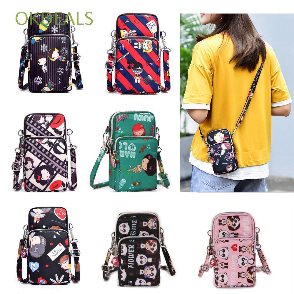 Túi đeo chéo mini thời trang với họa tiết hoạt hình đáng yêu