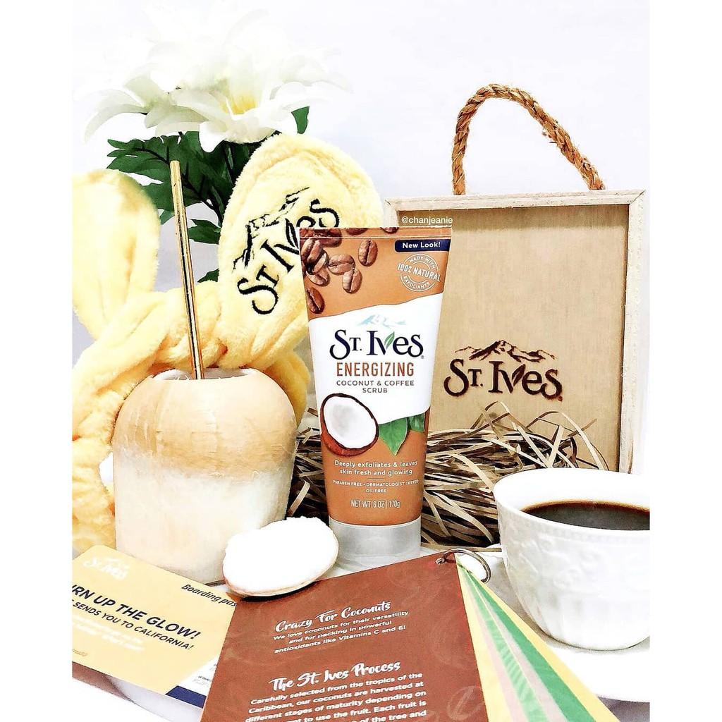 Hình ảnh Combo sữa tắm St.Ives Yến Mạch Và Bơ Shea 709ml + tẩy da chết St.Ives dừa và cà phê 170g-2