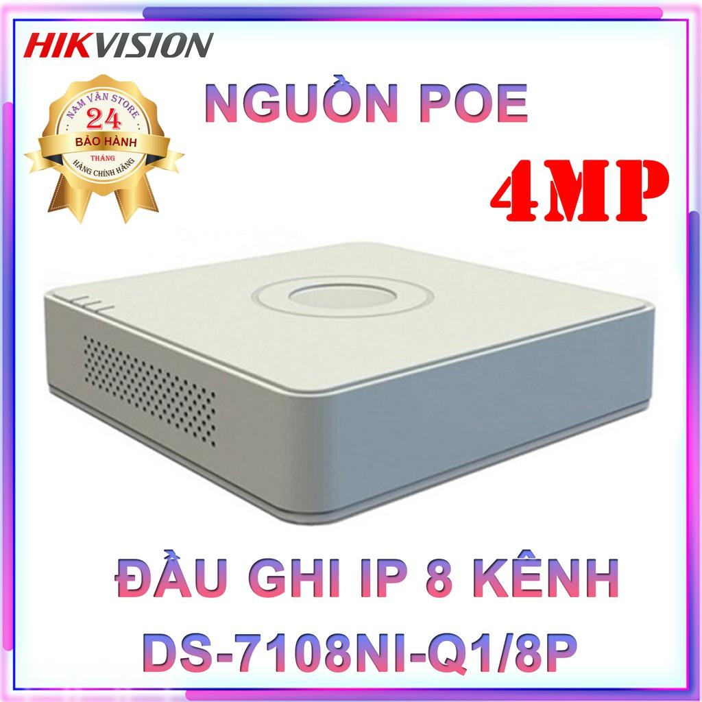 Đầu Ghi Hình Camera IP 8 Kênh HIKVISION DS-7108NI-Q1/8P - Hàng Chính Hãng