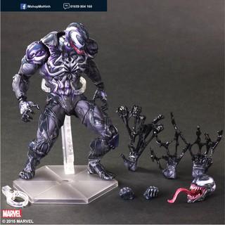 Mô hình Venom đen Play Arts Kai Trung Quốc – cao khoang 26cm.