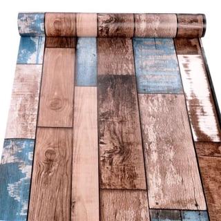 giấy dán tường sẵn keo 3d vân gỗ