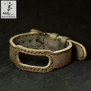 Dây đồng hồ RAM Leather cho miband 5 , miband 4 và miband 3 da bò thật - rammi ver2-size 18mm thumbnail