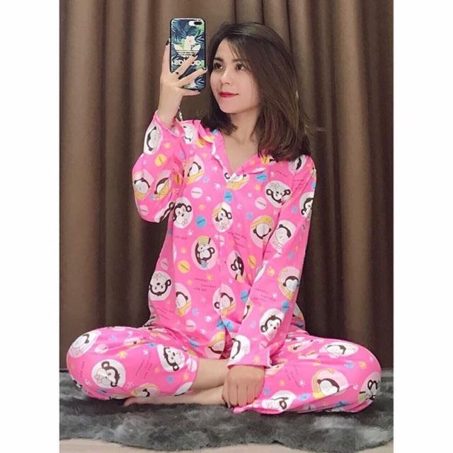 Đồ bộ pijama áo dài tay quần dài chất cotton dày dặn mịn mát màu hồng dể thương free size 55 kg trở - 3163407 , 1096313961 , 322_1096313961 , 99000 , Do-bo-pijama-ao-dai-tay-quan-dai-chat-cotton-day-dan-min-mat-mau-hong-de-thuong-free-size-55-kg-tro-322_1096313961 , shopee.vn , Đồ bộ pijama áo dài tay quần dài chất cotton dày dặn mịn mát màu hồng dể