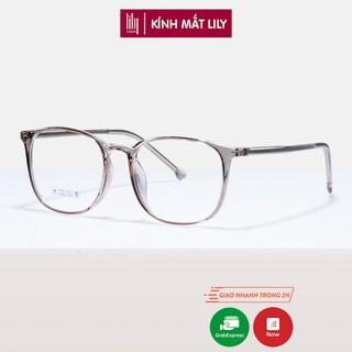 Gọng kính mắt cận phpng cách lịch lãm Lilyeyewear chất nhựa dẻo, thanh mảnh nhiều màu độc đáo 8251