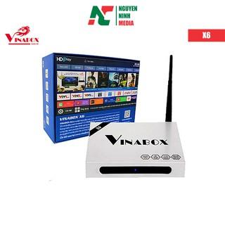 Tivi Box Vinabox X6 điều khiển bằng giọng nói, Chip lõi tứ, Ram 2GB, Model 2019