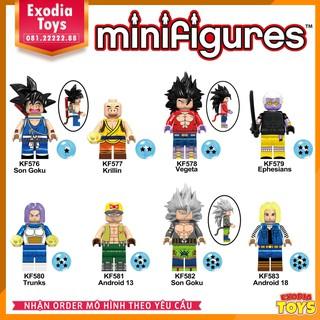 Bộ 8 minifigure nhân vật DragonBall : 7 viên ngọc rồng – Đồ chơi lắp ghép sáng tạo – KF6048