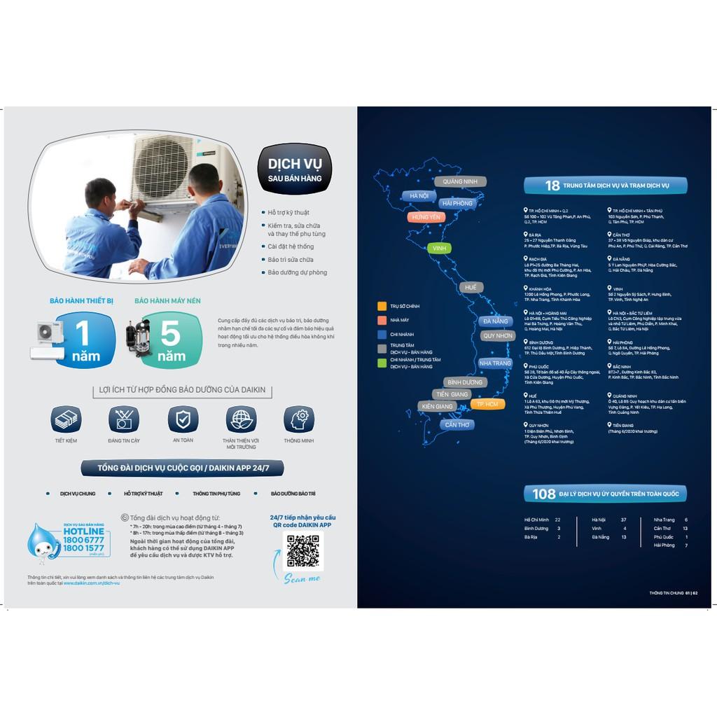 ĐIỀU HÒA 9.000 BTU DAIKIN 2 CHIỀU INVERTER FTXV25QVMV/RXV25QVMV