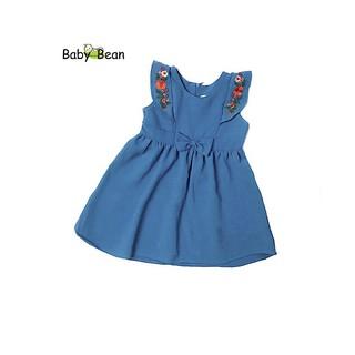 Đầm Đũi thêu Hoa Bèo Dọc bé gái BabyBean (XANH) thumbnail