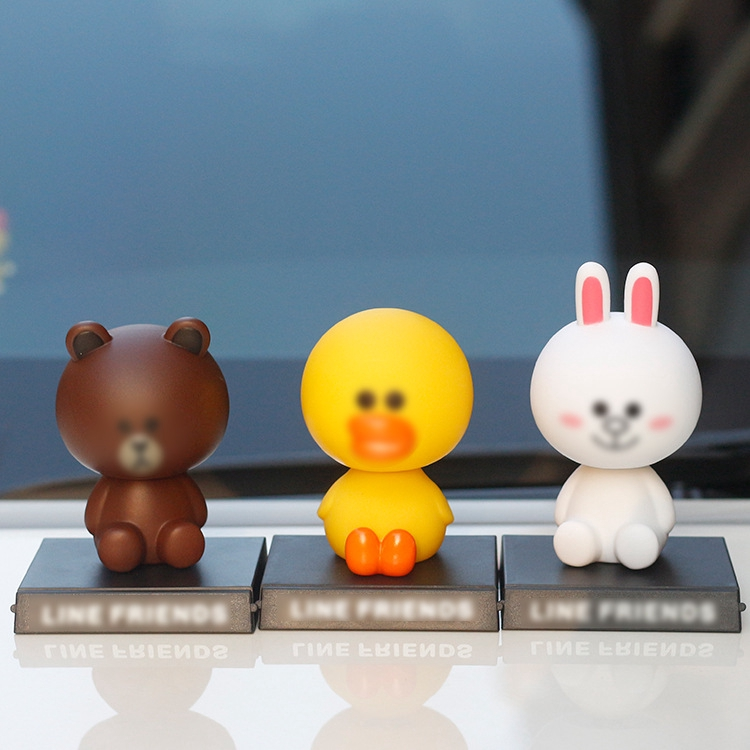 mô hình gấu và thỏ trang trí xe hơi xinh xắn