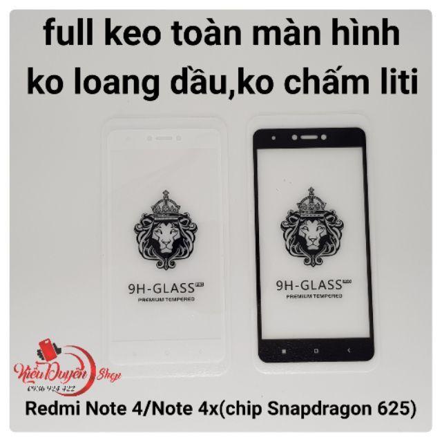 Xiaomi Redmi Note 4x và Redmi Note TGDD (chip 625) dán cường lực 5D Full màn,keo hết màn hình