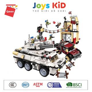 Đồ chơi xếp hình lego QMAN 3209: Heavy Armed Vehicle Attack – Joys KiD
