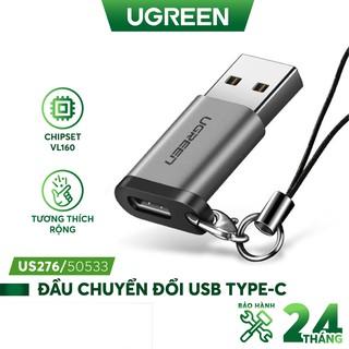 Đầu chuyển đổi USB-C sang USB 3.0, dùng cho PC, laptop, macbook, điện thoại... UGREEN US204 US276 thumbnail