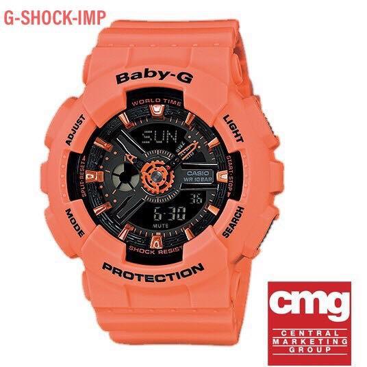 นาฬิกา CASIO BABY-G รุ่น BA-111-4A2 ของแท้ประกันศูนย์ CMG 1 ปี