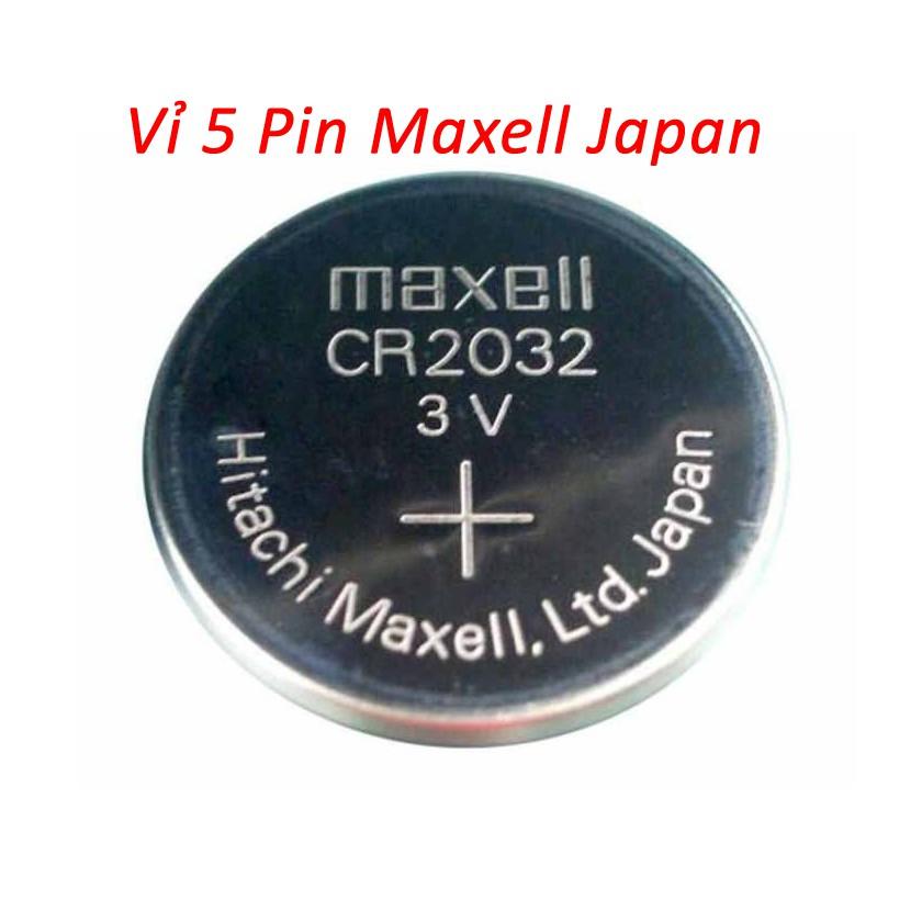 Vỉ 5 pin CR2032_Maxell Japan