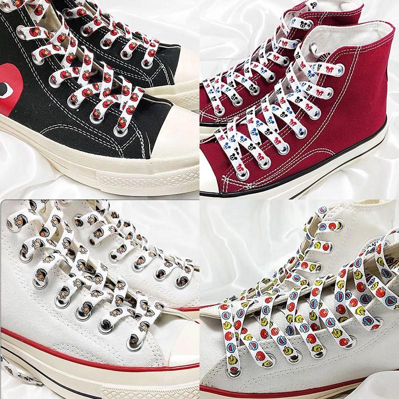 Dây buộc giày thể thao thiết kế họa tiết nhiều màu sắc dễ thương phong cách đường phố