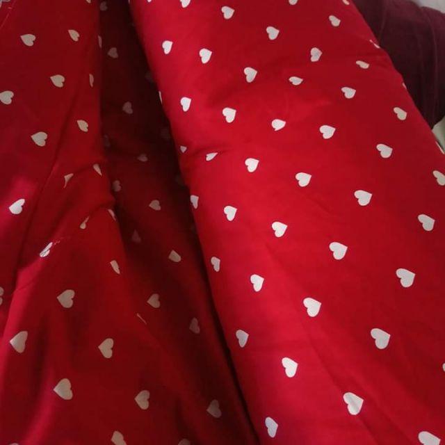Vải thô chấm bi cực đẹp
