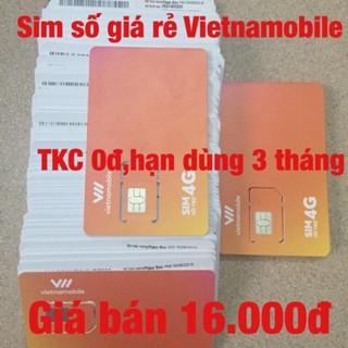 Sim Vietnamobile tài khoản chính 0đ