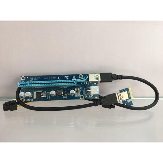 Dây Riser PCI-e version 009s black cable USB 3.0 60cm