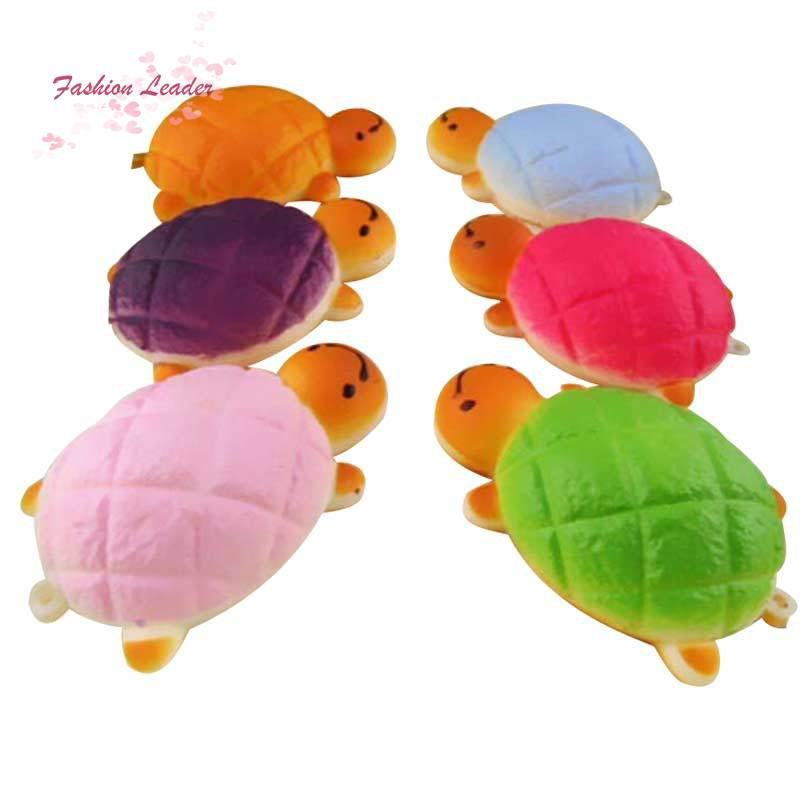 Cute 7cm Tortoise Squishy Charms Kawaii Bread Scented Key Chain Bag Cell Phone Straps