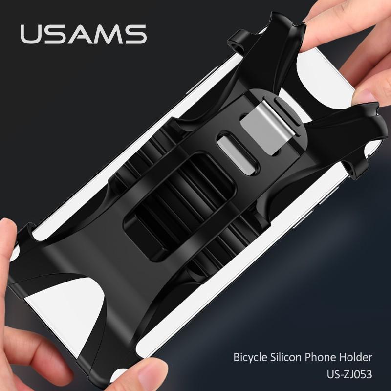 Giá Đỡ Điện Thoại Silicon Gắn Xe Đạp USAMS Us-Zj053 360 ° Cho IPHONE OPPO SAMSUNG HUAWEI VIVO XIAOMI